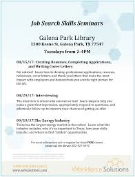 Great Job Skills Job Search Skills Seminars Harris County Public Library