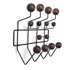 Eames Coat Rack Walnut Eames Style HangItAll Wall Hanger Multicolor Or Walnut White 12