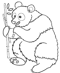 Small Picture Wild animal coloring page Panda bear eating bamboo Desenhos