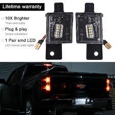 2018 Silverado License Plate Light Bulb Details About 2014 2018 Chevy Silverado Gmc Sierra Bright Smd Led License Plate Light Ma2028