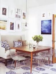 settee in the dining nook i am really digging the look of a settee for the dinning table but looking for a farm table
