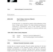 Curriculum Vitae Resume Format Cv Resume Putasgae Info