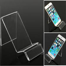 Cell Phone Accessories Display Stand Universal Transparent Mobile Phone Show Holder Plastic Display 98
