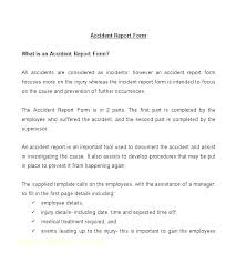 Incident Accident Report Form Template Blank Free Security