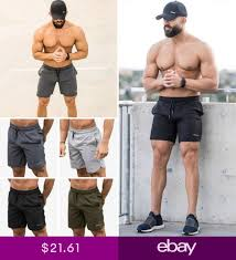 <b>Mens</b> Knit <b>Shorts</b> Echt Gym Fitness <b>Running Bodybuilding</b> Joggers ...