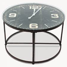 black round contemporary metal with glass top clock coffee table canada designs
