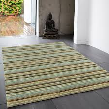 joseph blue green striped soft wool rug by asiatic 1