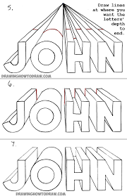 high quality drawing 3d letters with one point perspective tutorial for kids