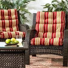 high back outdoor chair cushions high back outdoor chair cushion 2 pack