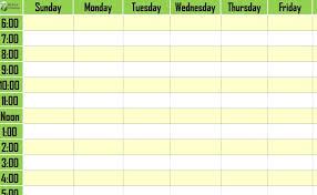 Time Schedule Chart Template Barca Fontanacountryinn Com