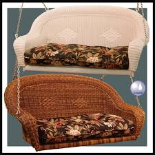 classic coastal avalon wicker porch swing