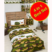 army camp camouflage tanks duvet covers matching curtains