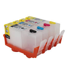 For <b>HP 670</b> XL <b>hp670</b> BK C M Y Refillable ink Cartridge 4 color for ...