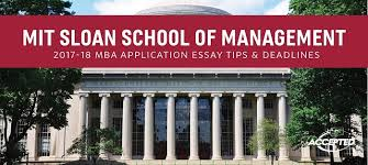 mit sloan mba application essay tips deadlines find more facts about mit sloan here