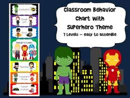 Superhero Behavior Chart Worksheets Teaching Resources Tpt