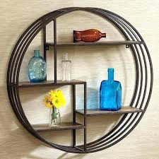 Circular Floating Shelves Inspiration Round Hanging Shelf Flexicabco