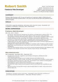 Php Developer Resume Freelance Web Developer Resume Samples Qwikresume