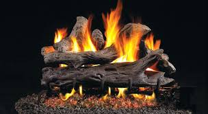 white birch gas fire logs fake fireplace