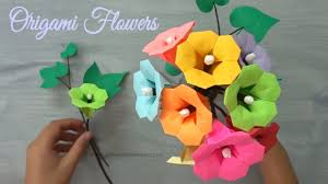 Paper Origami Flower Making Making Paper Flowers Step By Step Origami 3d Gifts