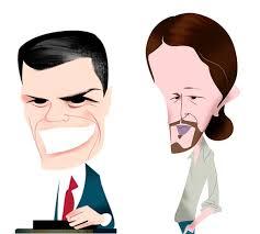 Resultado de imagen para Caricaturas de Sánchez e iglesias