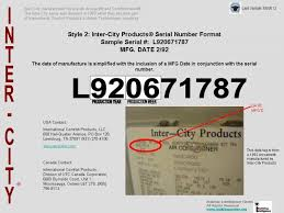 inter city products® how to determine the age or manufacture intercity