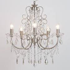 5 light antique style brass light fitting chandelier