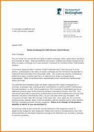 Salary Reduction Letters Example Job Cover Letter Template Word Note