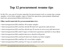 ... Inspiring Ideas Procurement Resume 13 Top12procurementresumetips ...