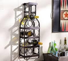 wine glass rack pottery barn. Simple Pottery Wine Bottle WallMount Rack Intended Glass Pottery Barn N