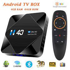 Buy Android TV Box Android 10 H616 Smart Tv Box HD 4GB 32GB 64GB Bluetooth  WiFi 2.4G/5G H40 Android Box Tv Media Player Set Top Box