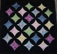 Love the black background! Cathedral Window Quilt Pattern by ... & Cathedral Window Quilt Pattern by Springwaterdesigns on Etsy Adamdwight.com