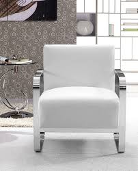 modern white lounge chair. Brizo Modern White Leather Lounge Chair