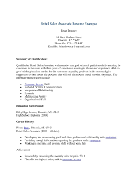 Retail Sales Associate Resume Examples Sales Associate Resume