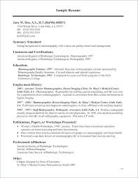 Examples Of Cover Letter For Resumes Delectable Sample Resume For Radiologic Technologist R Resume Samples Radiology