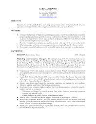 Objective For Marketing Resumeregularmidwesterners Resume
