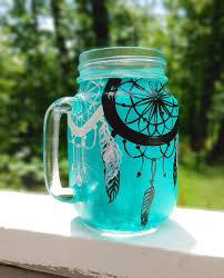 Dream Catcher Jar Hand painted dream catcher mason jar mug by ArianaVictoriaRose 20