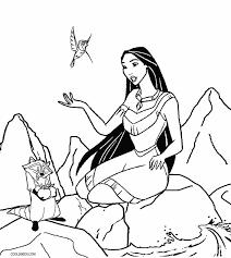 princess pocahontas coloring pages