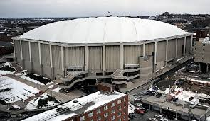 carrier dome. view full sizedennis nett / the post-standardthe carrier dome looking east from syracuse university\u0027s lawrinson hall.