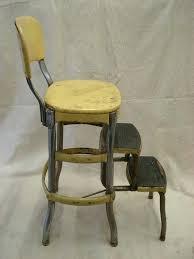 kitchen step stool folding vintage metal yellow folding chair step stool fold out chrome kitchen seat