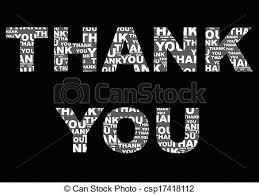 Word Thank You The Word Thank You On Black Background