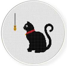 Cat Cross Stitch Patterns Inspiration Black Cat Cross Stitch Pattern Daily Cross Stitch