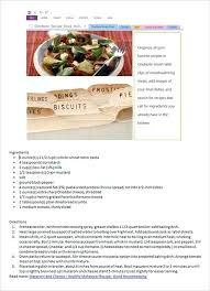 Homemade Cookbook Template Recipe Book Ideas