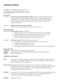 Example Of A One Page Cv Cvs And Covering Letters Pinterest