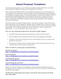Simple Business Proposal Letter Templates At
