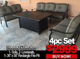 PatioImport Patio Furniture Sale Nassau 4pc set with 1 sofa 2