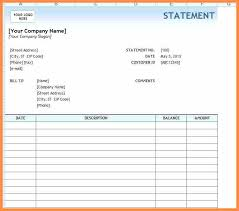 9 Example Of Invoice Statement Template Billing Excel Monthly Ms ...