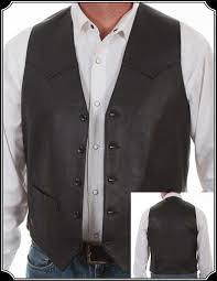black western style vest black is always a good color easy to match yet it has a touch of the formal look to enlarge image