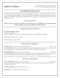 Phlebotomy Resume Examples Adorable Phlebotomy Resume Sample Sleepingwithsonal