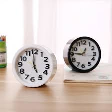 simple and quiet lazy student creative round table small clock desktop bedside fashion small alarm clock gift 16 95 free gearbest com