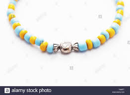 Designing Jewelry With Glass Beads Glass Beads Bracelet On White Background Isolated Beads